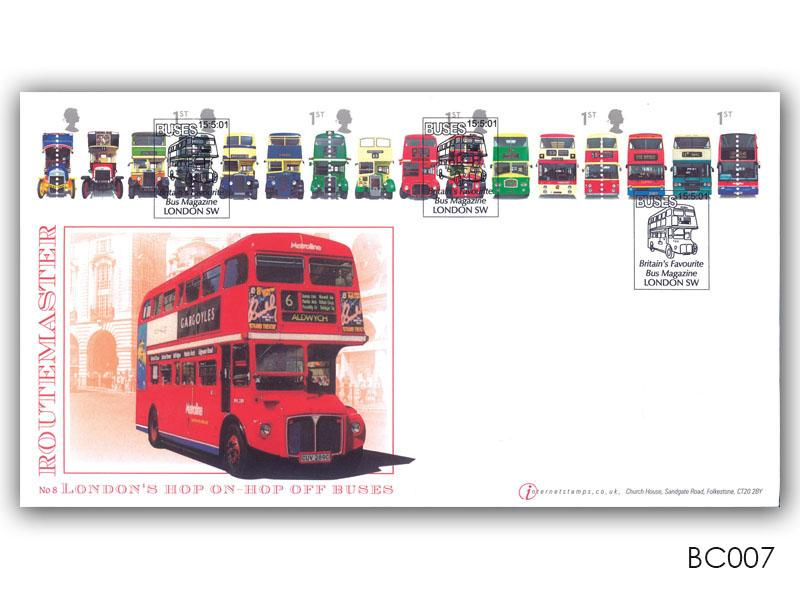 150th Anniversary of the First Double Decker Bus Stamps Cover