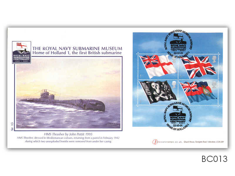 Royal Navy Flags and Ensigns Miniature Sheet Cover