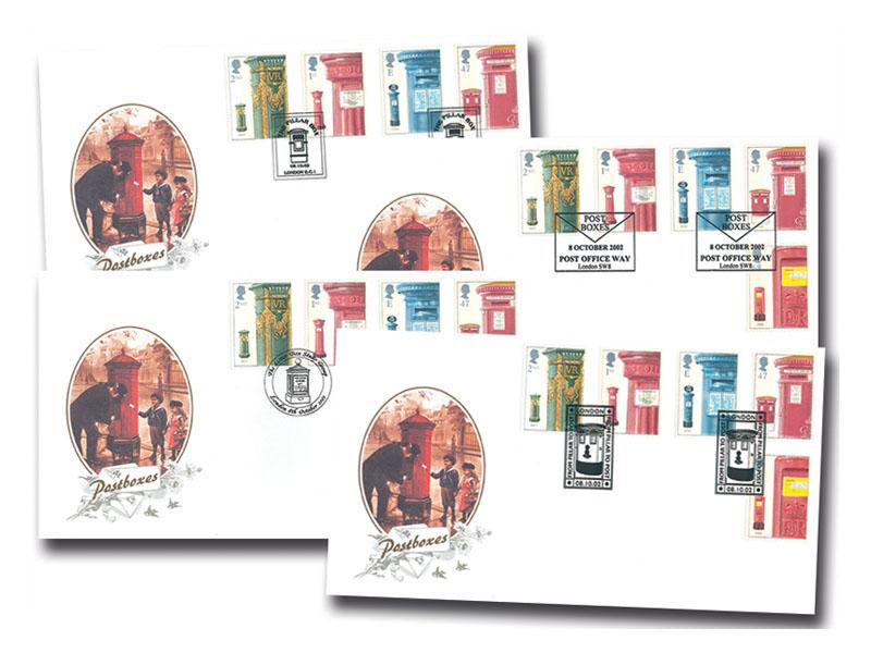150th Anniversary of the First Pillar Box Set of Covers