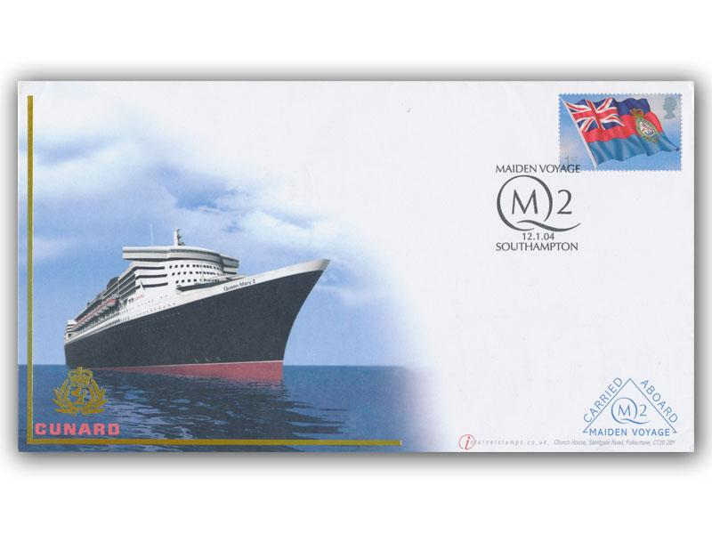 Ocean Liners - The Maiden Voyage of QM2 Single Stamp Cover