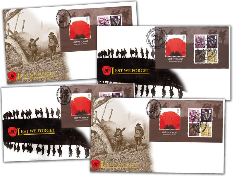 Lest We Forget 2007 Set of 4 Covers