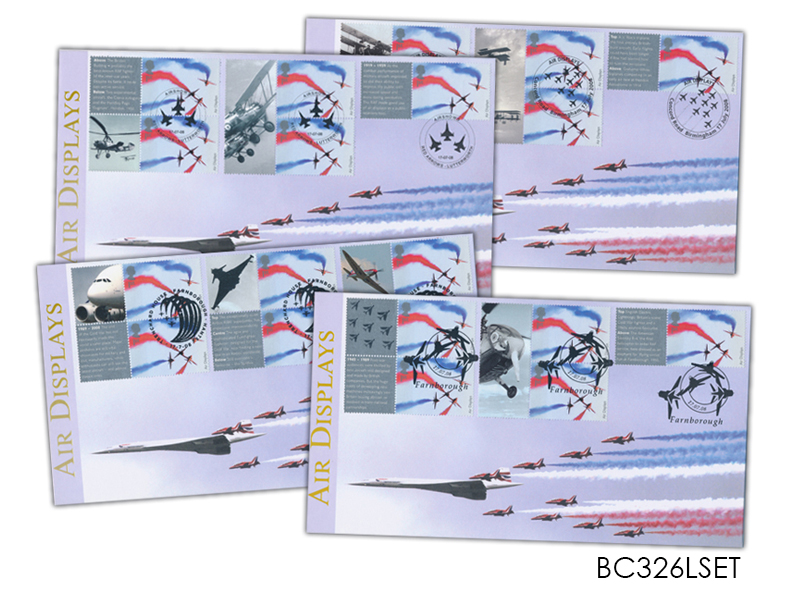 Air Displays - Red Arrows and Concorde Smilers Set of 4 Covers