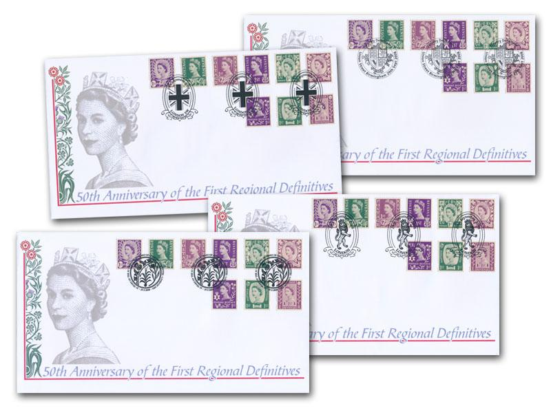 2008 50th Anniversary of the Country Definitives Set of 4 Covers