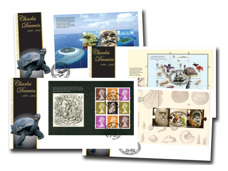 250th Anniversary of the Birth of Charles Darwin Prestige Stamp Booklet Set