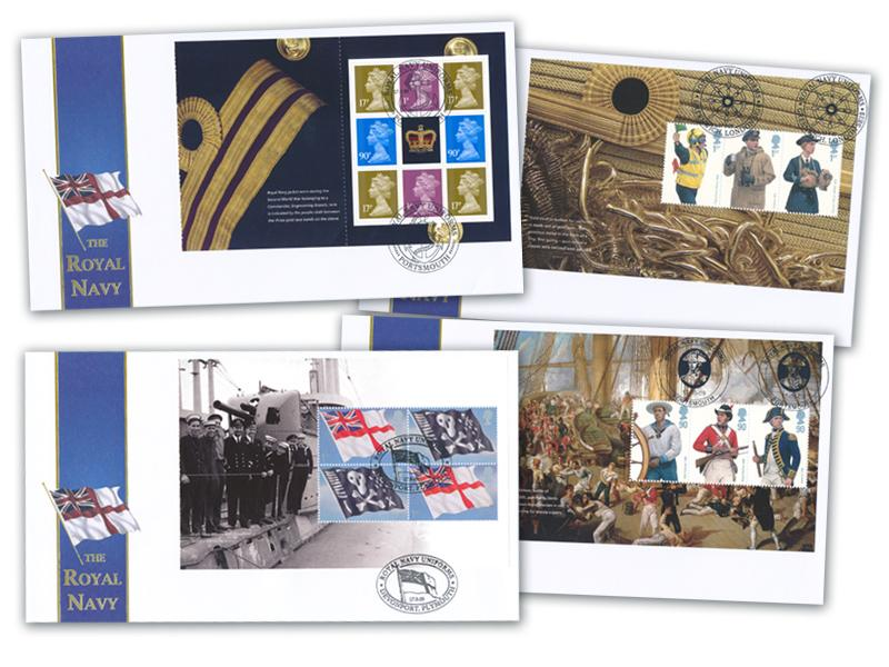 Royal Navy Uniforms Prestige Booklet Set of 4 Covers