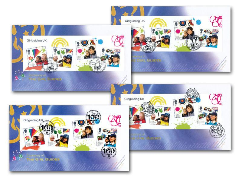 Girl Guides Centenary Set of 4 Covers