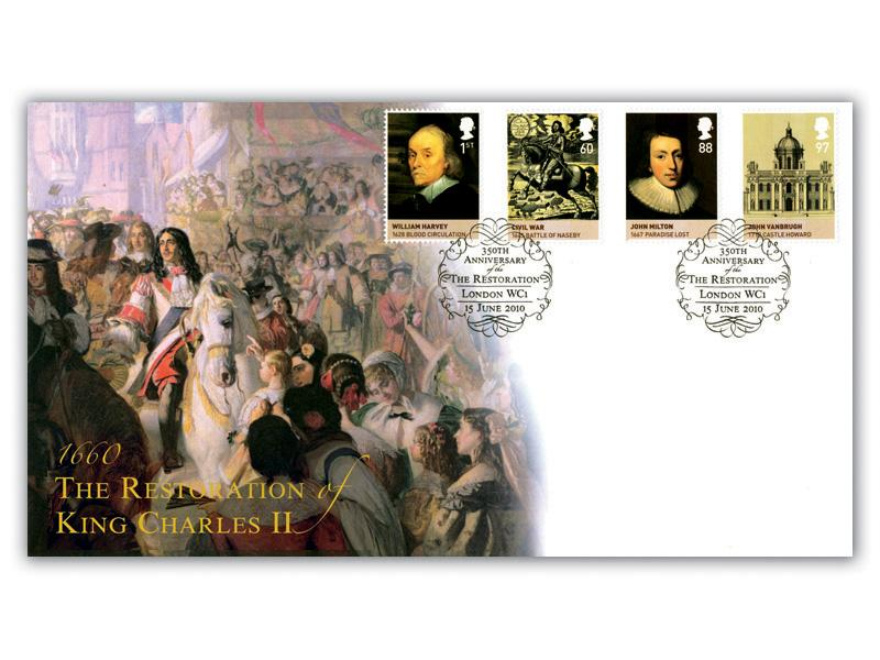 The Age of the Stuarts - Restoration of King Charles II Stamps taken from the M/S