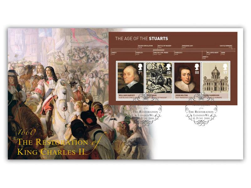 The Age of the Stuarts - Restoration of King Charles II Miniature Sheet