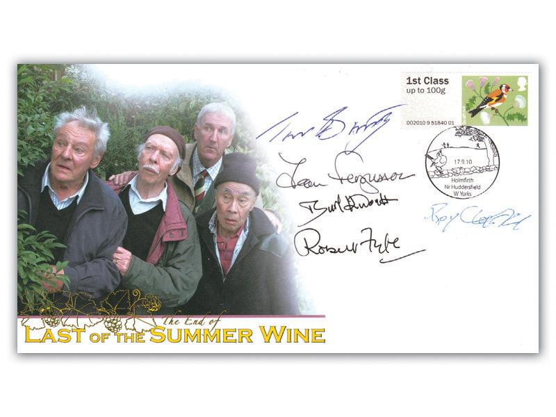 Post & Go - Birds of Britain I / Last of the Summer Wine Alternative Multi Signed