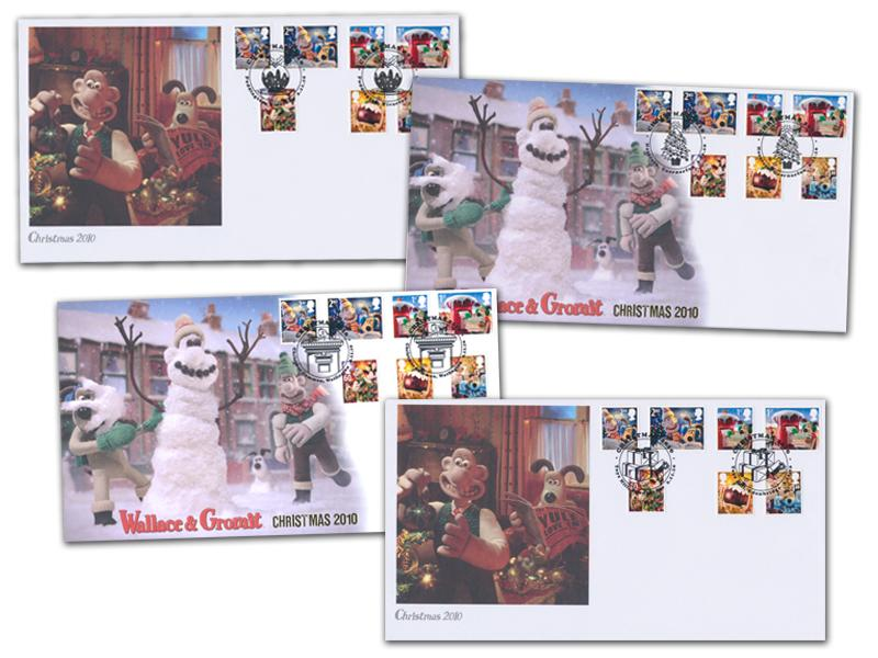Christmas 2010 - Wallace & Gromit Set of 4 Covers