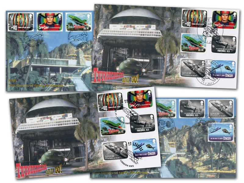 The Genius of Gerry Anderson / Thunderbirds Are Go! - Set of 4 Covers