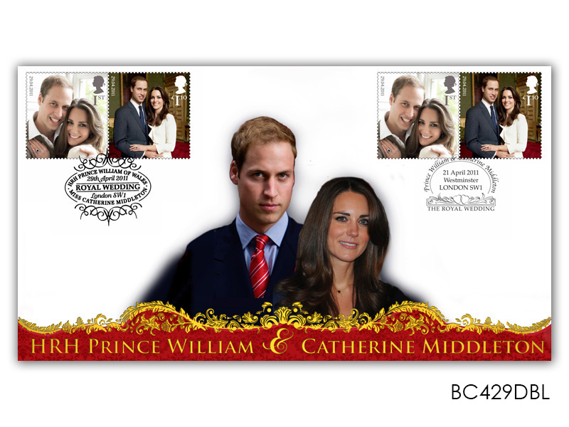 Royal Wedding of Prince William and Catherine Middleton - Double Postmark