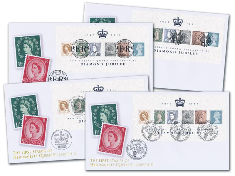 Queen Elizabeth II Diamond Jubilee Set of 4 Covers