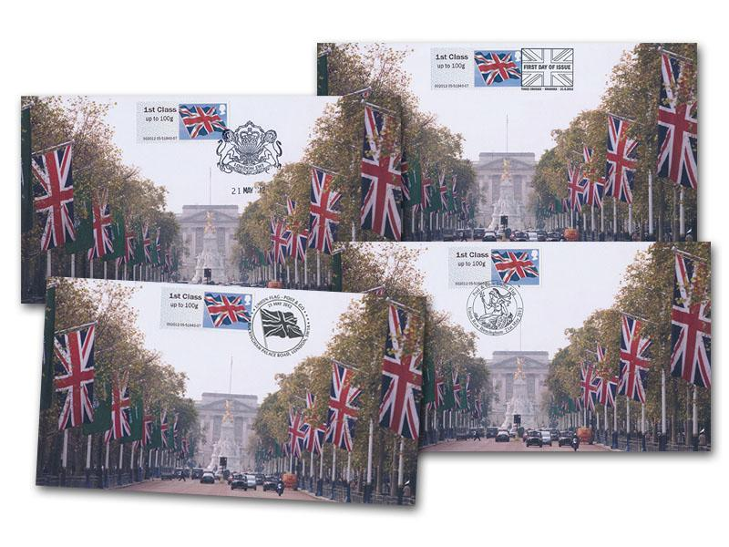 Post & Go - Union Flag Set of Four Covers