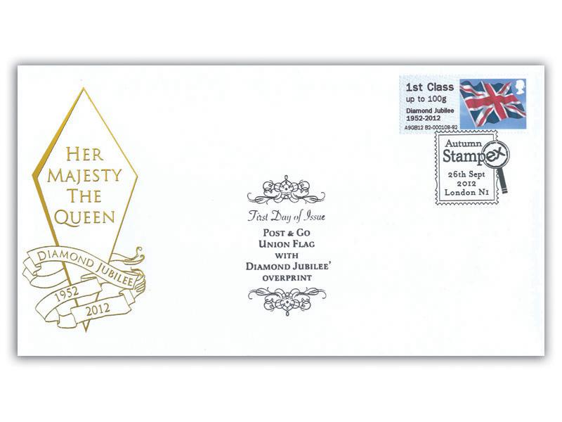 Post & Go - Union Flag, Diamond Jubilee Overprint Cover