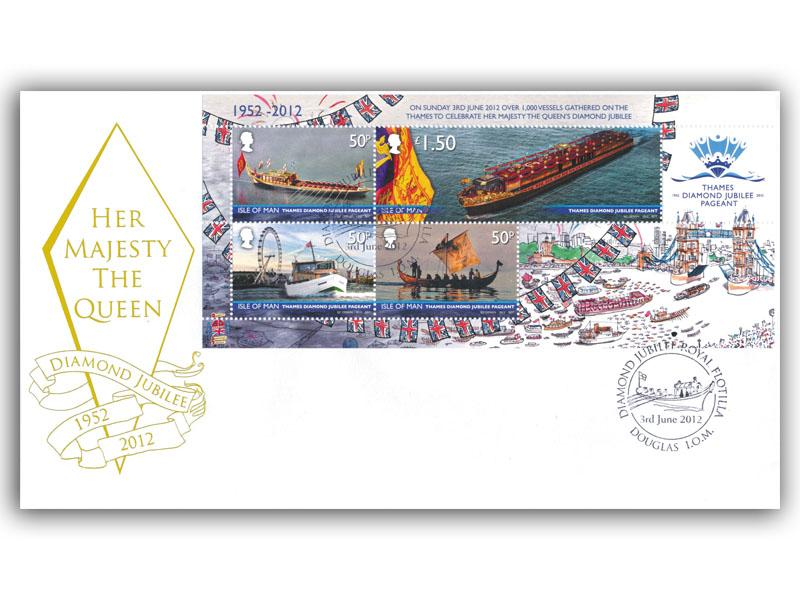 Diamond Jubilee Isle of Man Miniature Sheet