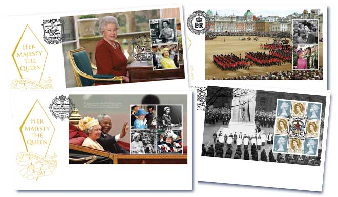 Diamond Jubilee Prestige Booklet Set of 4 Covers