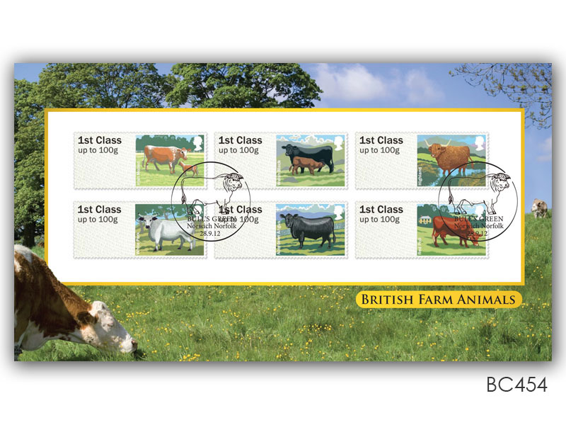 Post & Go - British Farm Animals - Cattle