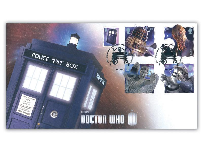 Classic TV - 50th Anniversary of Doctor Who Stamps from the Miniature Sheet