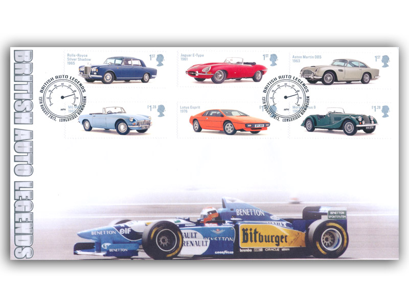 British Auto Legends Stamps Cover