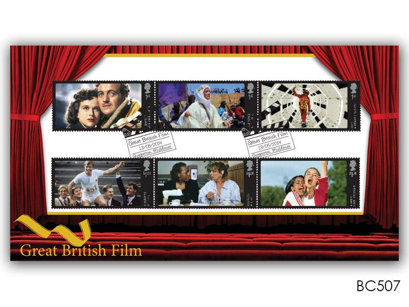 Buckingham Covers   Great British Film Stamps cover