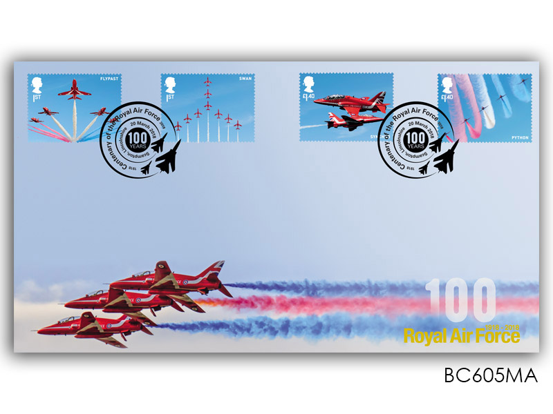 100 Years of the Royal Air Force - Red Arrows Stamps from Miniature Sheet