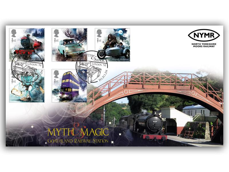 Harry Potter - Goathland Station 5 Stamps Cover