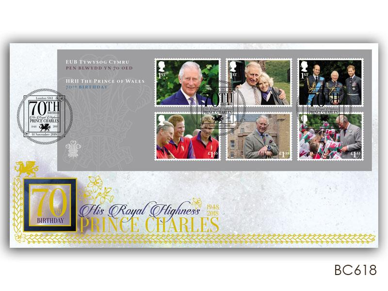 HRH Prince Charles 70th Birthday Miniature Sheet Cover