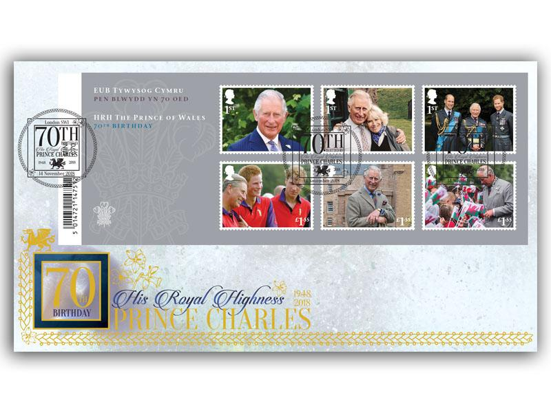 HRH Prince Charles 70th Birthday Barcode Miniature Sheet Cover
