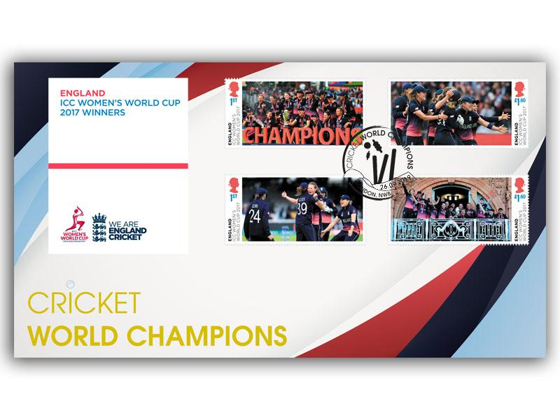 Women's Cricket World Cup Championships Stamps torn from the Miniature Sheet