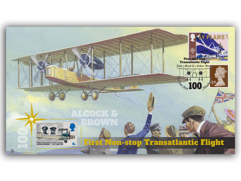 100th Anniversary of the First Non-Stop Transatlantic Flight First Day Covers