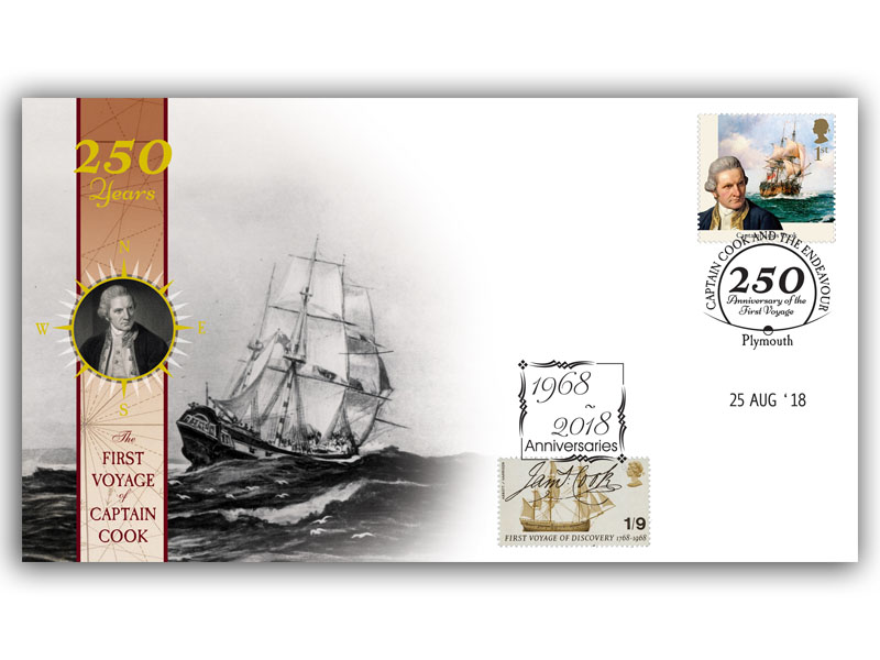 250 Years of the First Voyage of Captain Cook Single Stamp Cover