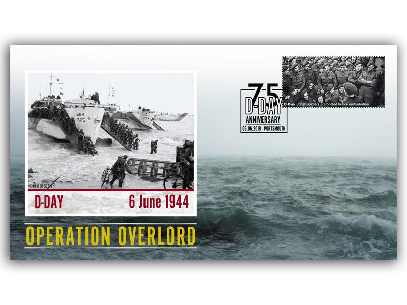 D-Day - Operation Overlord Single Stamp Cover