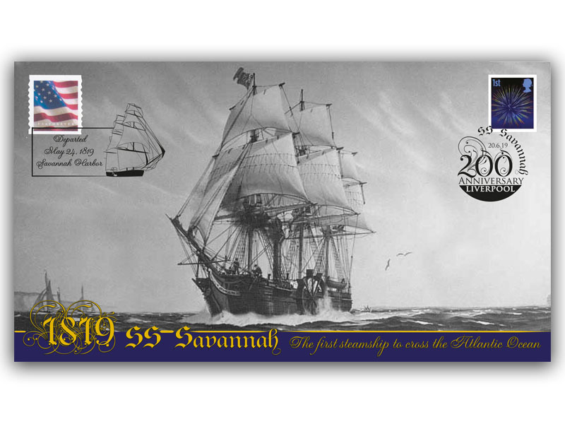200th Anniversary of the Atlantic Crossing of the SS Savannah First Day Covers