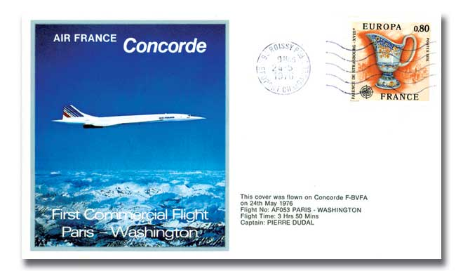 Air France Concorde flown pair of covers