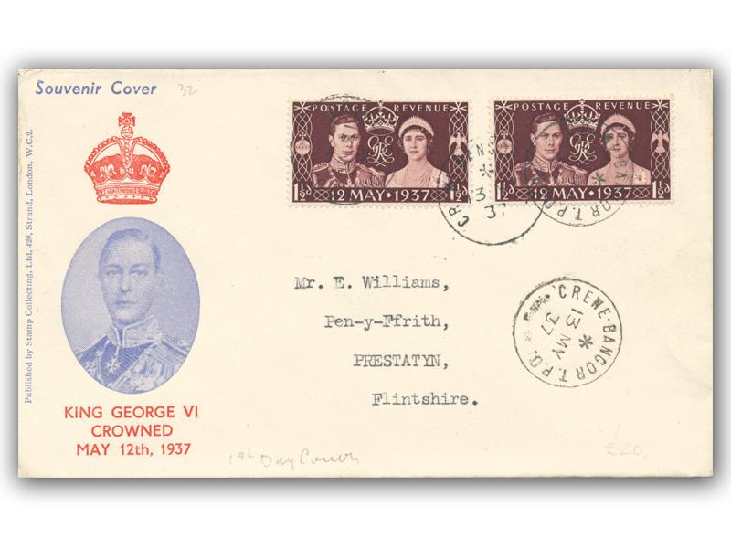 1937 King George VI Coronation, Stamp Collecting Ltd cover