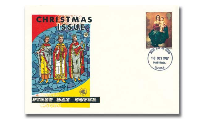 1967 Christmas 4d Wessex Cover with Our Choice of Postmark