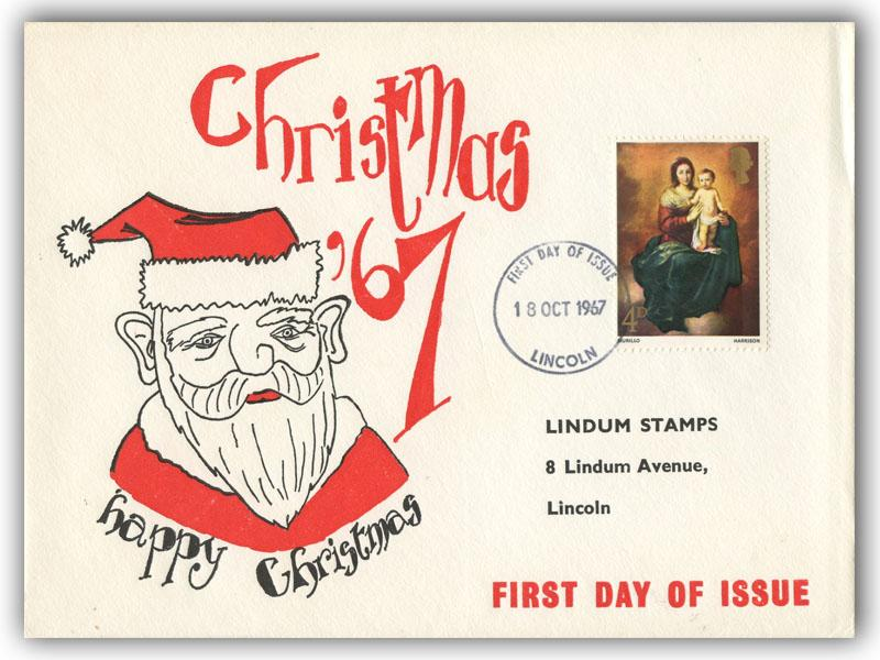 1967 Christmas 4d Connoisseur Cover with Our Choice of Postmark