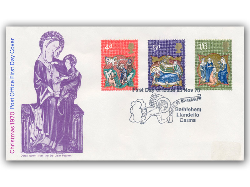 1970 Christmas Post Office Cover with a Bethlehem Special Postmark