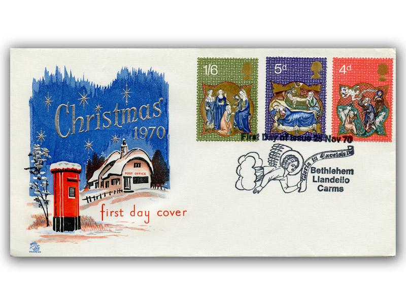 1970 Christmas Sovereign Cover with a Bethlehem Special Postmark
