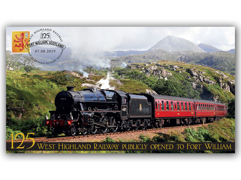 125th Anniversary of the Opening of the West Highland Railway to Fort William First Day Covers