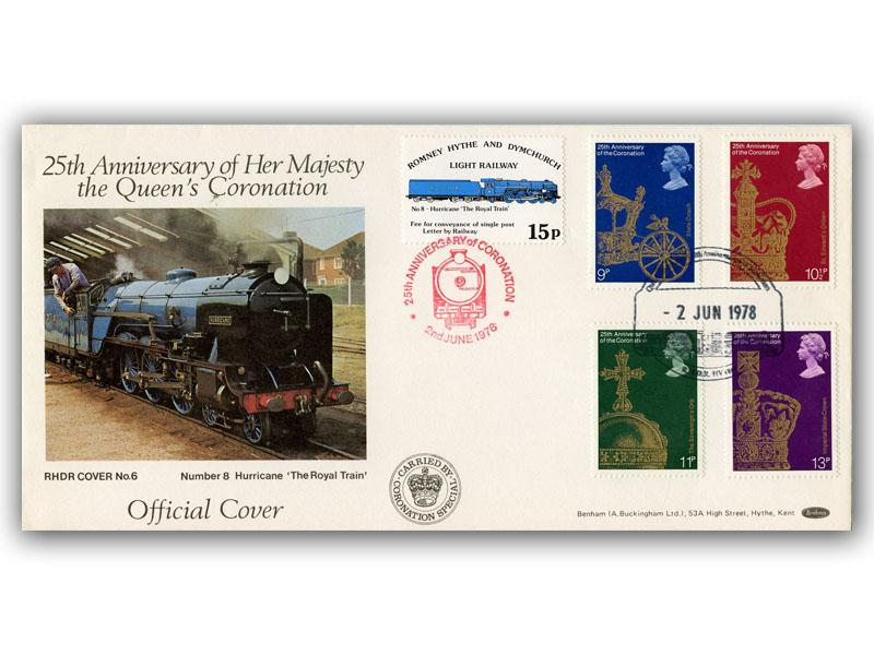 1978 RHDR Coronation full set cover with anniversary postmark