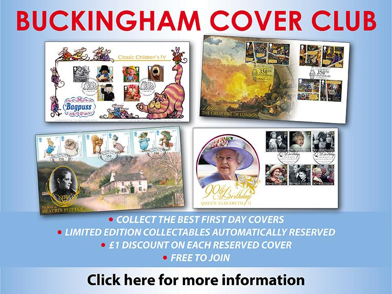 L - Join the Buckingham Cover Club (unsigned) First Day Covers
