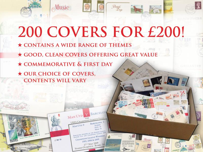 K - 200 covers for 200 offer First Day Covers