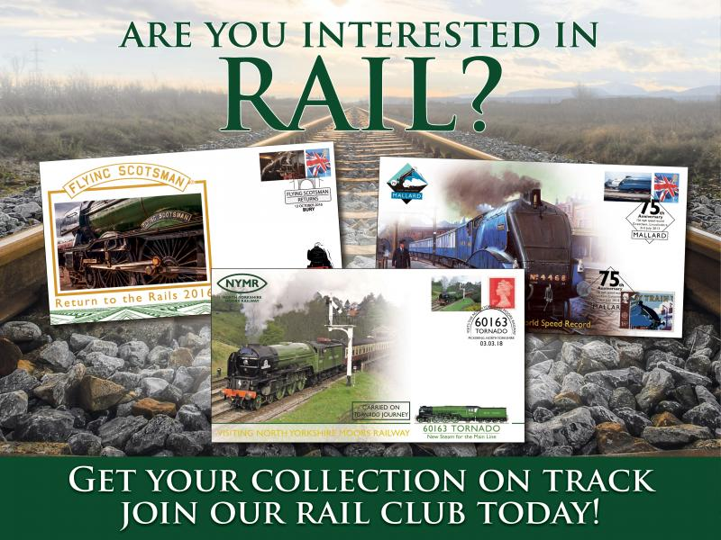P - Join the Buckingham Rail Club First Day Covers